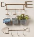 Set of 3 Hanging Tin Buckets