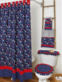 By The Sea Bath  Collection Navy-Bath Curtain