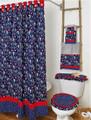 By The Sea Bath  Collection Navy-Bath Curtain