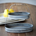 Oval Galvanized  Serving Tier