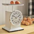 White Metal Scale Clock