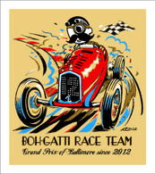 2012 GPB - Boh-Gatti Race Team Collectors Giclee