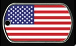 *AMERICAN FLAG* Dog Tag