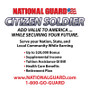 CITIZEN SOLDIER STATIC WINDOW CLING 9 X 9