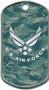 ABU Camo USAF Dog Tag