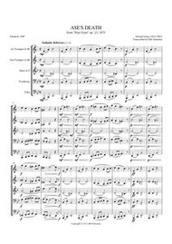 "ASE'S DEATH FROM ""PEER GYNT"" (brass quintet) (download)"
