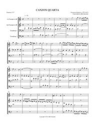 CANZON QUARTA (brass quartet)