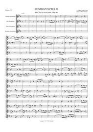 CONTRAPUNCTUS II: ART OF THE FUGUE (sax quartet)