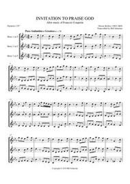 INVITATION TO PRAISE GOD (horn trio)
