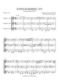JUSTUS ES, DOMINE (trumpet trio)