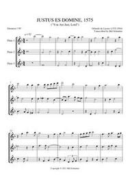 JUSTUS ES, DOMINE (flute trio)