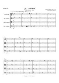 """QUATRICINIA FROM """"TOWER MUSIC"""" OF 1696"""