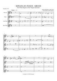 SONATA 3: FUGUE-GRAVE BSM284 1