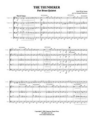 Thunderer, The (Brass Quintet) (Download)