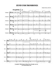 Hymn for Trombones (trombone ensemble) (download)