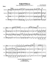 Tarantella, from Song Without Words, Op 182. No. 3 (tuba quartet) (download)