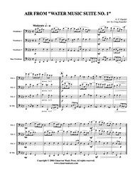 Air, from Water Music Suite No. 1 (trombone quartet) (download)