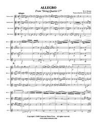 Allegro from String Quartet 17 (Download)