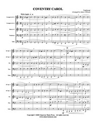 Coventry Carol (Brass Quintet) (Download)