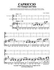 Capriccio (Trumpet, Tuba & Piano) (Download)