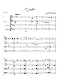 AVE MARIA (1852) (brass quartet) (download)