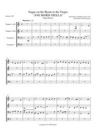 AVE MARIS STELLA (brass quartet) (download)