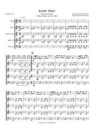 BAHN FREI (woodwind quintet) (download)