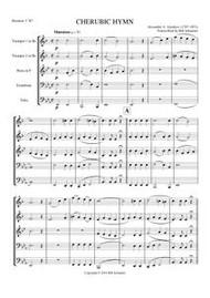 CHERUBIC HYMN (brass quintet) (download)