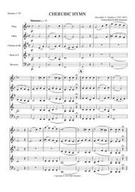 CHERUBIC HYMN (woodwind quintet) (download)
