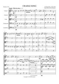 CRADLE SONG (string quintet) (download)