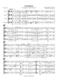 IM HERBST (string quartet) (download)