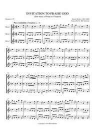 INVITATION TO PRAISE GOD (oboe trio) (download)