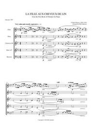 LA FILLE AUX CHEVEUX DE LIN (woodwind quintet) (download)