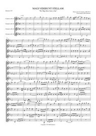 MAGI VIDERUNT STELLAM (clarinet quartet) (download)