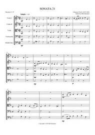 SONATA 21 (string orchestra) (download)
