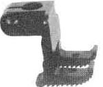 """Product - VIBRATING PRESSER FOOT 1/2"""" GAUGE ( INSIDE FOOT)267680-032 FOR SINGER 300W203 (267680-032)"""