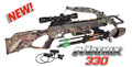 """Draw weight: 220lbs. Power Stroke: 11.37"""" Velocity (@350 grains): 330 FPS Stock Style: Ergo-Grip Physical Weight: 5.1 lbs. Overall Length: 33.87"""" Arrow Length: 18"""" Minimum Arrow Wt: 350 gr. Finish: Mossy Oak Break-Up Infinity"""