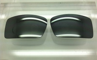 Custom Oakley Gascan Grey w/ Silver Mirror Polarized Lenses
