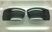 Custom Oakley Gascan Grey w/ Silver Mirror Polarized Lenses