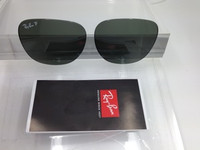 Authentic Ray Ban RB 3016 Clubmaster Green Glass Polarized Lenses Size 49