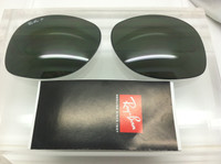 Authentic Rayban RB 3387 Green Polarized Replacement Lens Pair Size 64