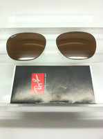 Authentic Ray Ban RB 3016 Clubmaster  Brown Glass Lenses Size 49