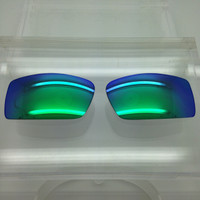 Oakley Gascan Custom Green Mirror Non-Polarized Lenses (lenses are sold in pairs)