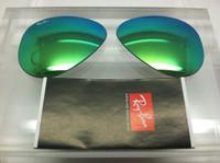 Authentic Rayban 3025 Aviator Green Mirror Coating Lenses SIZE 55
