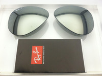 Authentic Rayban 3025 Aviator Green Lenses w/ Silver Mirror Polarized Glass SIZE 58
