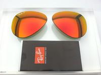Authentic Rayban 3025 Aviator Polarized Orange/Red Mirror Coating Lenses SIZE 55