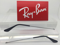 Authentic Rayban 3025 Aviator Gunmetal Replacement Temples Length 140 w/ Black Tips