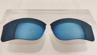 Aftermarket Custom Oakley Flak Jacket XLJ Replacement lenses Blue Mirror Polarized Lens HIGH CLARITY