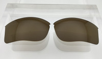 Aftermarket Custom Oakley Flak Jacket XLJ Replacement lenses Bronze/Brown Polarized Lens HIGH CLARITY