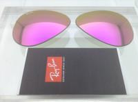 Authentic Rayban 3025 Aviator Pink/Purple Mirror Coating Lenses SIZE 58